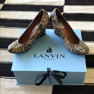 Lanvin Ballerina Wedge in Leopard 39